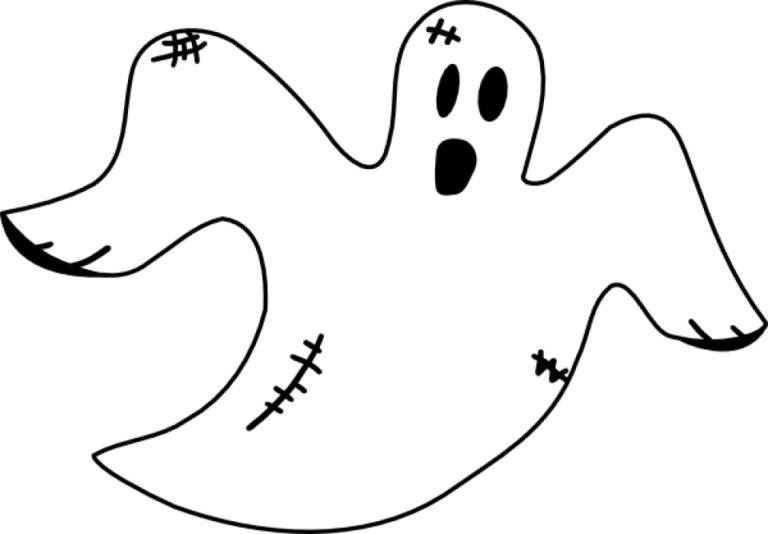 Free Ghost Coloring Pages 46159 Crg Texas Environmental